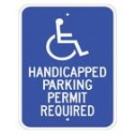 Disabled Handicapped Parking Permit Required Sign