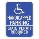 Disabled Handicapped Parking State Permit Required