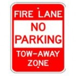 Traffic Sign FIRE LANE NO PARKING TOW-AWAY ZONE