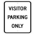Traffic Sign VISITOR PARKING ONLY