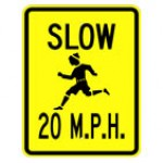 Traffic Signs For Kids - SLOW CHILDREN PLAYING